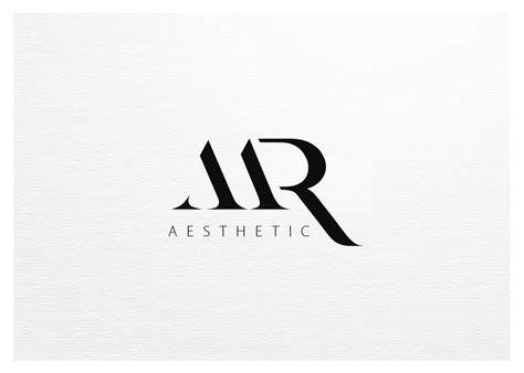 m r logo design modern professional logo design for m r aesthetic by