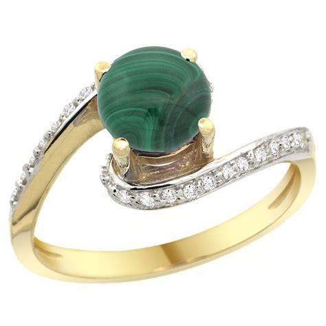 2 42 ctw malachite engagement ring 14k