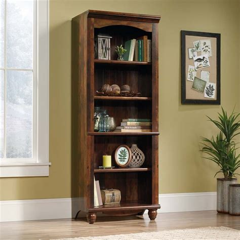 Sauder Harbor View 5 Shelf Bookcase In Curado Cherry 420477 Sauder Harbor View Bookcase