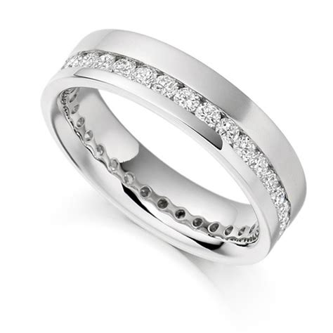 classic serendipity 34 in wide 1 carat offset 5 2mm wide eternity ring