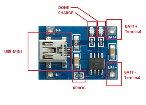 Tp4056 1a 5v Cas Battery Charging Charger Module Micro Usb Proteksi tp4056 1a li ion battery charger module of circuits