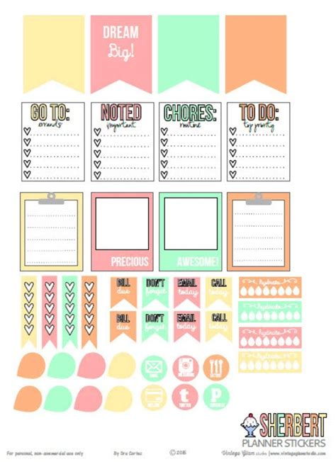 printable planner accessories 15 free planner printables blitsy