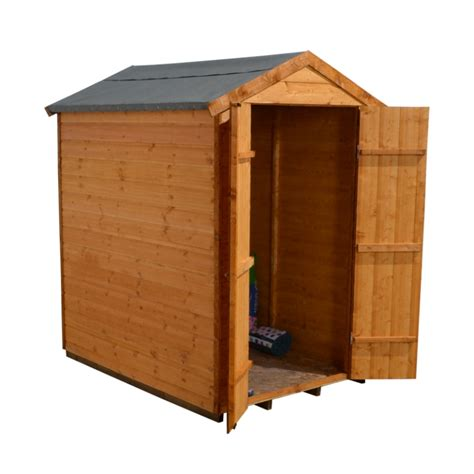 6x4 shiplap shed delivered installed apex security