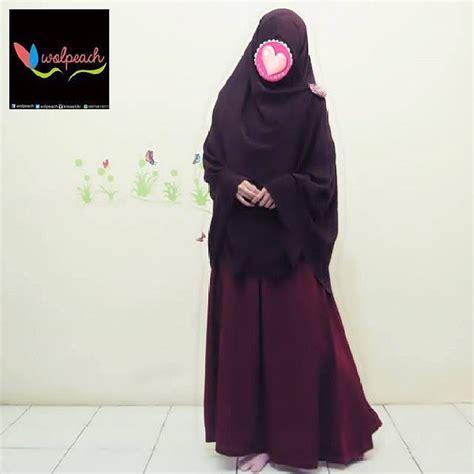Gamis Balqis 2 Biru Toska Magenta Coklat produk wolpeach moslem modesty show you a real