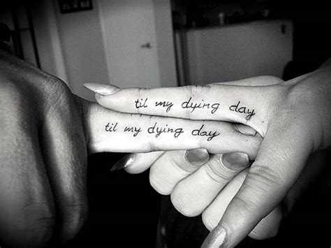 tattoo finger quotes 61 cute couple tattoos that will warm your heart page 5