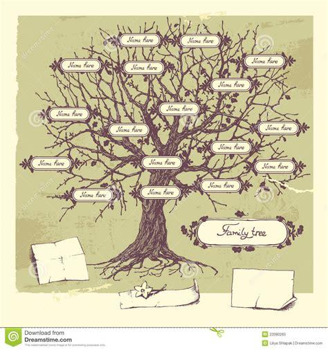 Stammbaum Vektor Abbildung Bild Von Kunst Hand Feld 22080265 Family Tree Stock Images Royalty
