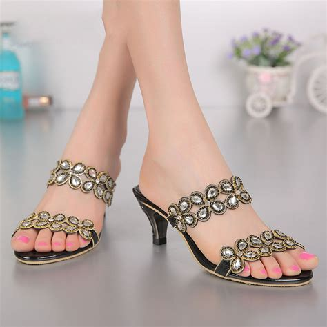 Sandal Wanita High Heels Gelang Sdh165 2017 new sandals luxury shoes for high heels 6cm stiletto slippers gold