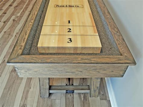 plank and hide shuffleboard table plank and hide isaac shuffleboard table robbies billiards