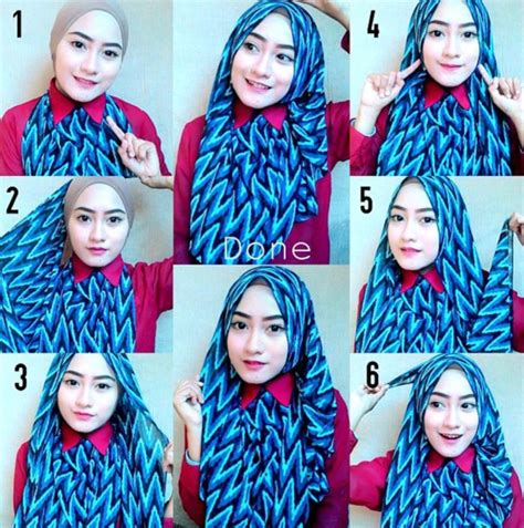 tutorial cara memakai hijab pesta contoh tutorial hijab elegan untuk pesta terbaru 2016