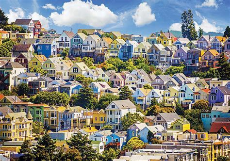 san francisco house colorful san francisco houses jigsaw puzzle puzzlewarehouse com