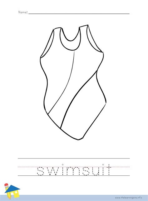 coloring page bathing suit bathing suit coloring pages preschool coloring pages