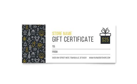 gift card template illustrator gift certificate templates indesign illustrator