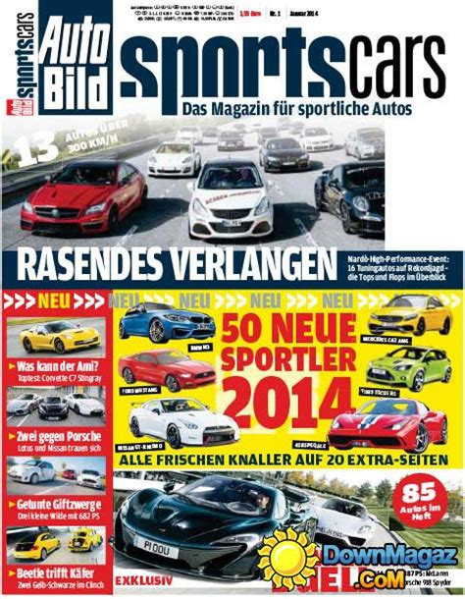 Auto Bild Sportscars 3 2014 by Auto Bild Sportcars 1 2014 187 Pdf Magazines