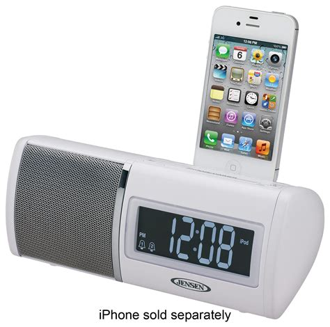 digital am fm dual alarm clock radio white jims 75i best buy
