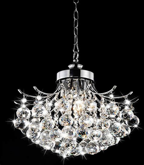 Chrome Chandeliers Indoor Chrome 3 Light Chandelier Contemporary Chandeliers By Overstock