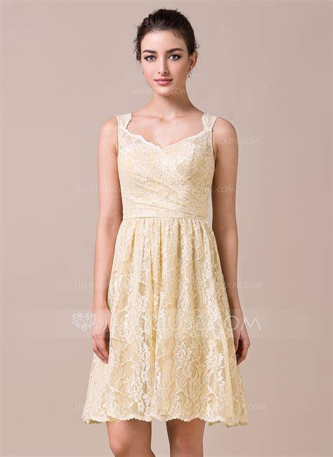 a linie v ausschnitt wadenlang spitze brautjungfernkleid mit scharpe band blumen p410 a linie princess linie v ausschnitt knielang spitze