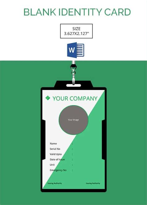 Credit Card Size Id Template 30 blank id card templates free word psd eps formats