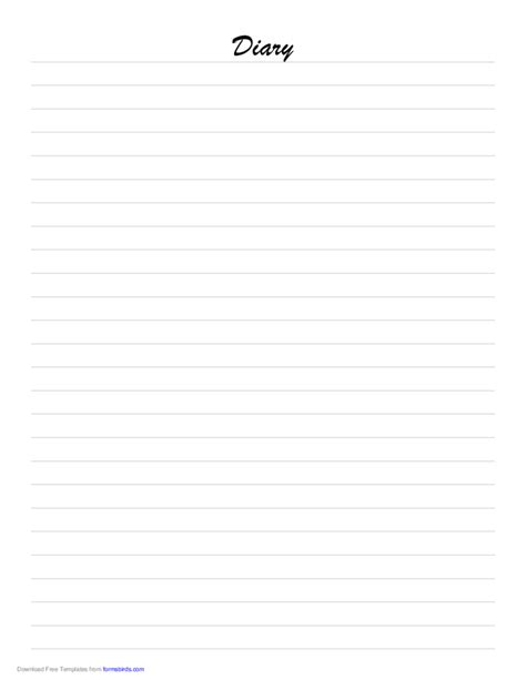 diary paper template