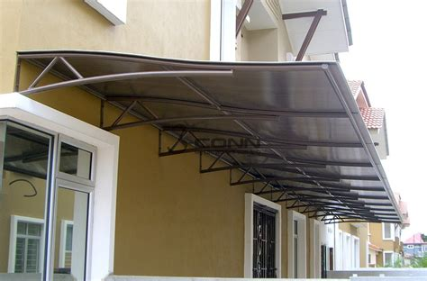 sheet metal awning mild steel awning with polycarbonate sheet