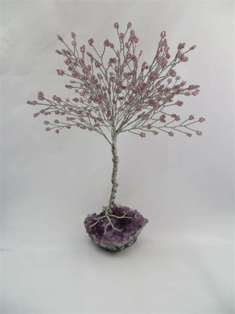 seed bead tree reserved for amethyst tree of purple seed
