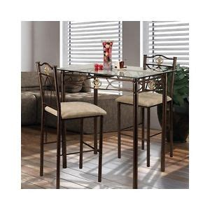 Small Bistro Table Set For Kitchen Small Kitchen Table Set 3 Glass Top Bistro Dining Chairs Counter Stool New Ebay
