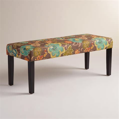floral bench augustus floral mady dining bench world market