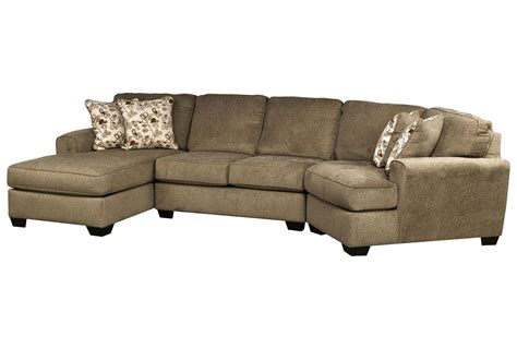 sectional sofa with cuddler patola park 3 cuddler sectional w laf corner chaise living spaces