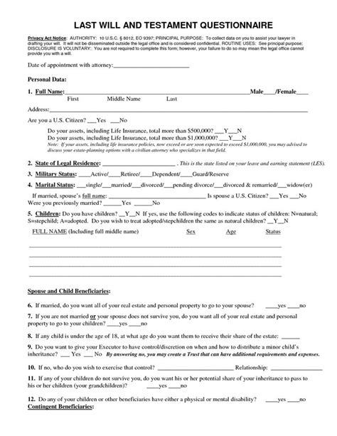 wills templates pets animal breed az last will and testament blank forms