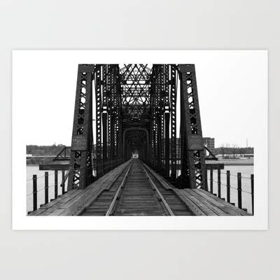 swing of the quad cities swing span bridge davenport iowa art print iowa