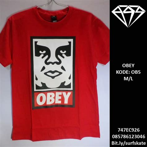 T Shirt Obey 005 Kaos Obey Obey surf skate tees obey