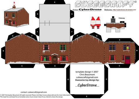 Papercraft Houses - cubee house by cyberdrone on deviantart