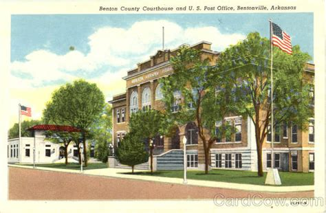 Bentonville Post Office by Benton County Courthouse And U S Post Office Bentonville Ar
