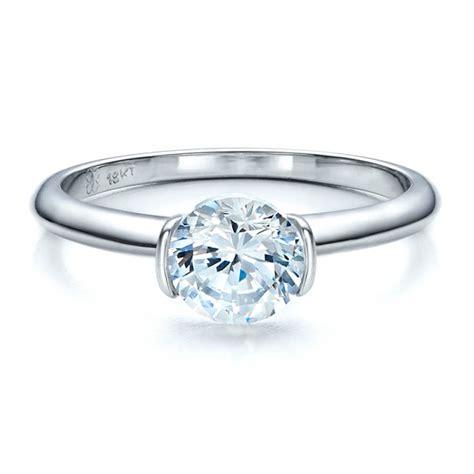 half bezel solitaire engagement ring 1480