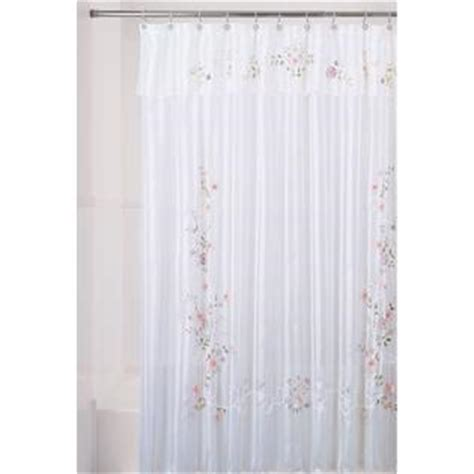 ribbon shower curtain essential home shower curtain ribbon flower fabric home
