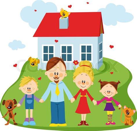 their home familie und zuhause vektorgrafik colourbox