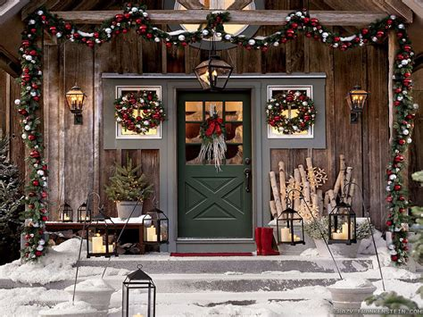 Outside Christmas Decorations awesome rustic pictures of outdoor christmas decorating ideas with