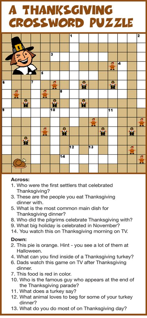 printable turkey puzzle printable thanksgiving crossword puzzles happy easter