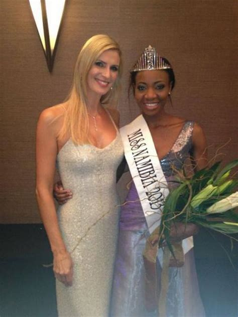 Cobus Moller   Michelle Mclean   Miss Namibia 2013