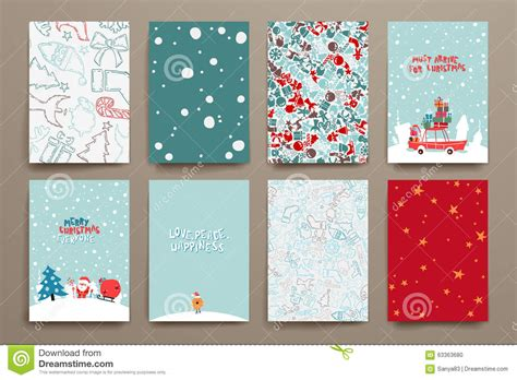 merry templates for cards merry set of card templates stock vector image