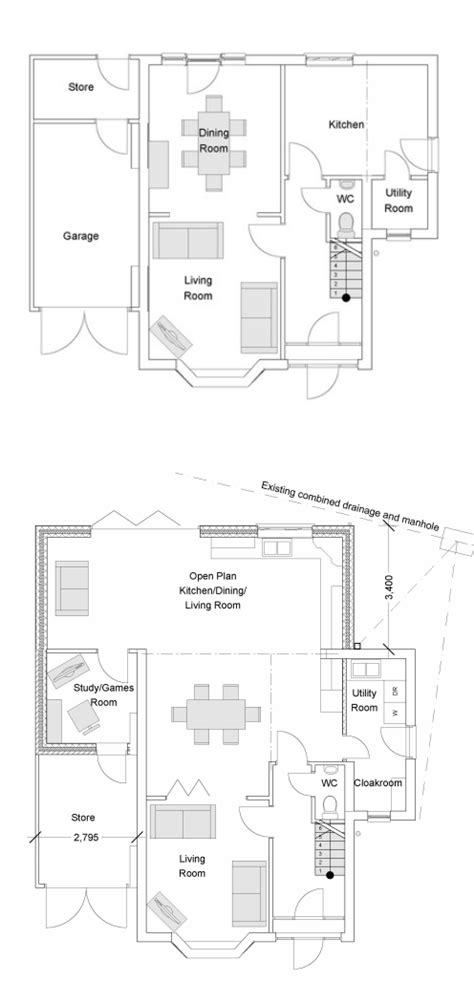 Single Home Floor Plans single storey extension in west bridgford sas