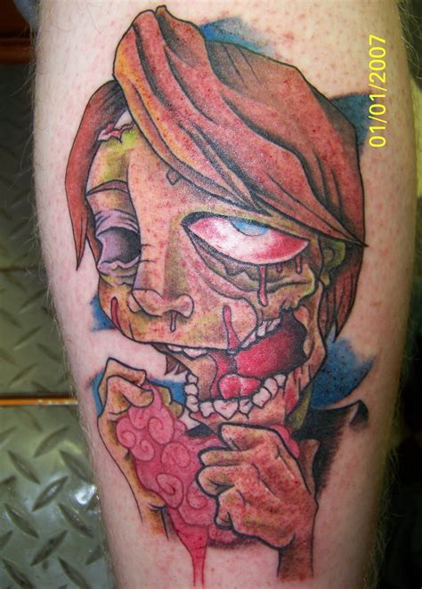 zombie tattoo the gallery for gt new school