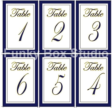 make your own table number cards template etsy sale flat wedding table numbers funky box studio