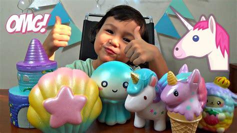 Squishy Rainbow Squishy Es Krim Squishy unicorn squishy haul opening squishy toys