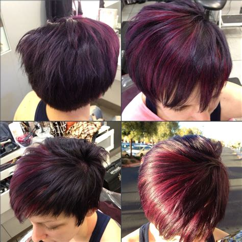 las vegas hair styles violet with red violet highlights by amanda fuller at