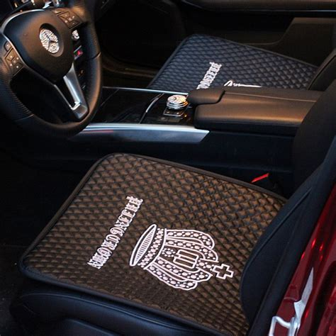 crown leather seat covers new embroidery crown car seat cushion leather car seat