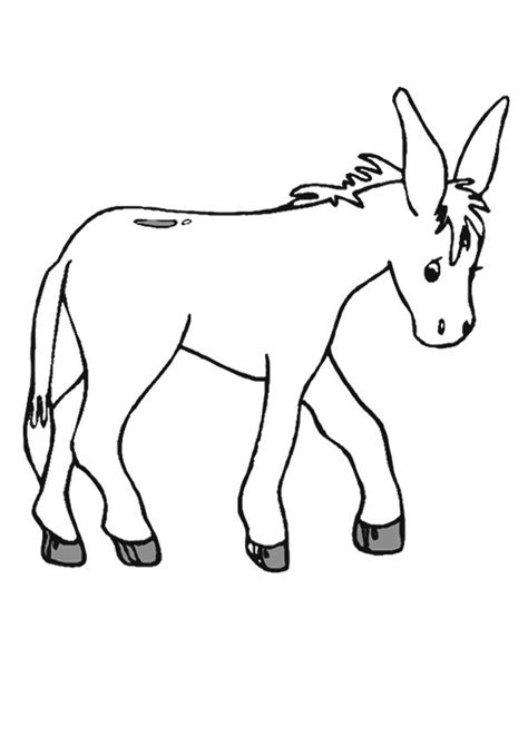 printable donkey templates donkey outline template www imgkid com the image kid