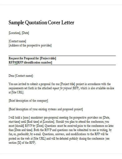 quotation letter examples templates