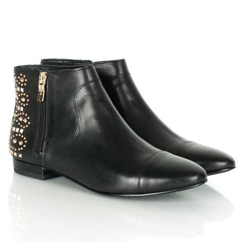 bcbgeneration logann s black leather ankle boot