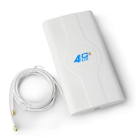 Murah Penguat Wifi 4g Lte Mimo External Antenna Modem Router 40dbi high gain indoor 4g lte mimo antenna dual sma crc 9 ts 9 connectors