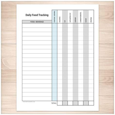 printable calorie intake journal daily food content tracking sheet printable at printable